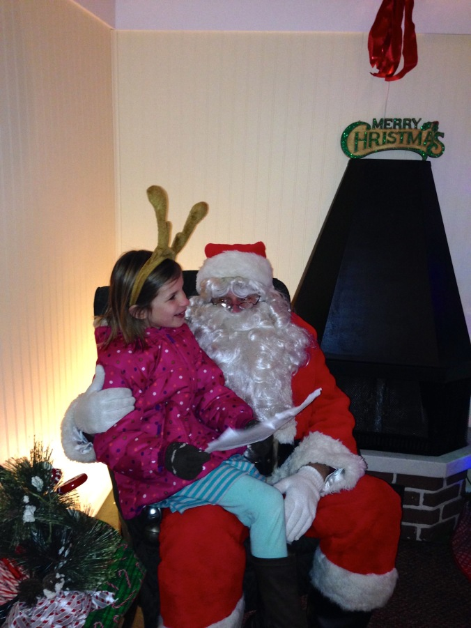 Stella Brady Visits Santa in Crystal Lake